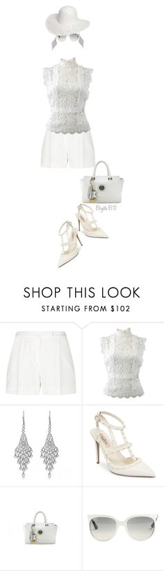 """""""The White Shirt & Shorts with Heels!"""" by birgitte-b-d ❤ liked on Polyvore featuring Elie Saab, Oscar de la Renta, Allurez, Valentino, Ray-Ban and Dorothy Perkins"""