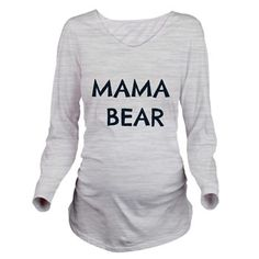 Mama Bear Long Sleeve Maternity T-Shirt // #SicEm