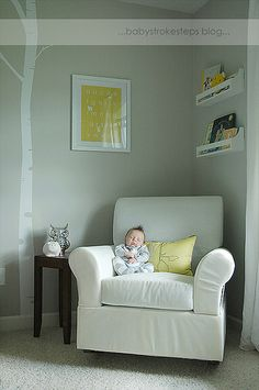 Yellow white & gray - my dream nursery