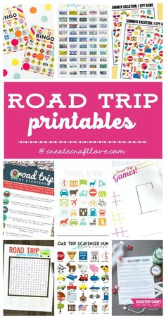 holiday trip Keep the kids occupied on those long car rides this summer with these Road Trip Printables! These games will provide hours of entertainment in the car!
