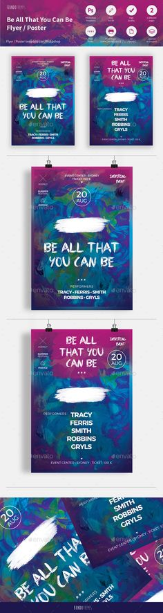 Be All That You Can Be Flyer - Events Flyers