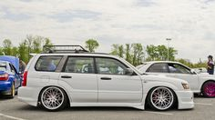 Slammed Forester, wheels and stance make all the difference...