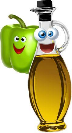 Öl und Paprika