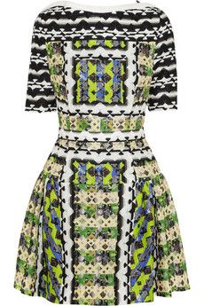 Peter Pilotto Natalie printed silk-blend mini dress   THE OUTNET #FreshPrints #PeterPilotto
