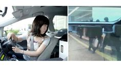 Transparent back seat  improve parking skill