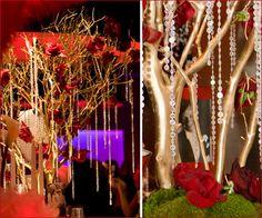 Oscars Party Ideas: Manzanita Centerpieces