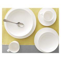 TAITE White bone china pasta bowl D22.5cm