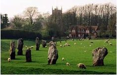 Avebury stone circle. I have visited here, most of the village is in the circle. Stones you can touch unlike Stonehenge.