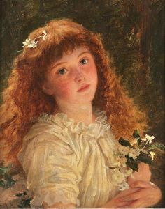 The Young Flower Girl - Sophie Anderson (1) From: Celtic Dreams, please visit