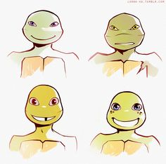 I wonder if in later episodes we will see Leo and Raph unmasked.