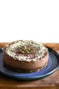 Dessert Recipe: Raw Vegan Chocolate Cake #vegan #plantbased #healthy #recipe #whatveganseat #glutenfree #dessert #rawfood
