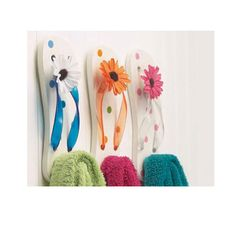 FlipFlop Wall Hooks At Cool Wall Hooks And Creative Wall Hook Designs (36)  28  Flip Flop Shower Curtain
