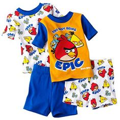 """""""Too Busy Being Epic"""" Toddler boy's Angry Birds pajamas"""