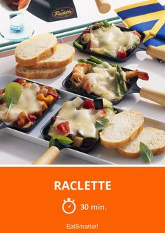 The Raclette recipe out of our category Shrimp! EatSmarter has over healthy & delicious recipes online. Raclette Recipes, Raclette Party, Christmas Appetizers, Appetizers For Party, Party Finger Foods, Party Buffet, Xmas Food, Winter Food, Brunch