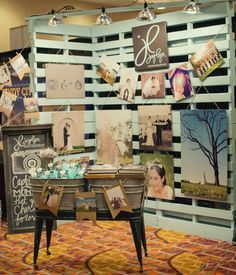 This could be doable for my senior art exhibit. 10 Unique Art Show Displays - Carmen Whitehead Designs