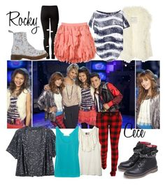 """""""Rocky & Cece"""" by zendaya-bella ❤ liked on Polyvore featuring B. Ella, Walter, Vivienne Westwood Anglomania, Estradeur, Rare Opulence, Dr. Martens, Tripp, Lanvin, Jigsaw and Thakoon Addition"""