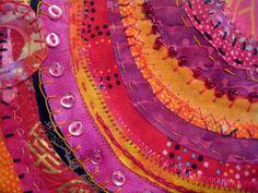 layerd fabric and beading