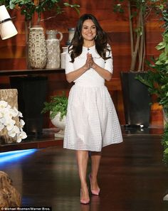Mila Kunis refuses to deny she's married to Ashton Kutcher on Ellen #dailymail