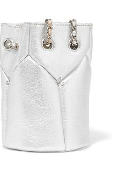 Jérôme Dreyfuss - Popeye Mini Metallic Textured-leather Bucket Bag - Silver - one size