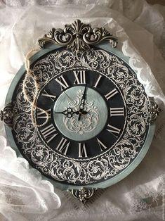 Часы для дома ручной работы. Ярмарка Мастеров - ручная работа. Купить Часы настенные, коллекция Барокко Аквамарин 67х60см!. Handmade.