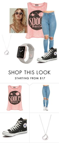 """I'm Bored"" by turtlemail-23 on Polyvore featuring New Look, Converse and Tiffany & Co."
