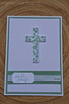 Papierforma(r)t: Taufkarte Gesegnet