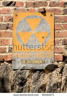 Faded Fallout Shelter Sign On Brick Stock Photo 56304673 ...