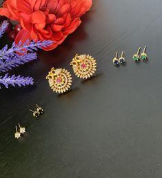 Interchangeable earrings/AD stones peacock earrings / Changeable Jewelry / Bollywood/Ethnic/ Party wear earrings / Five colors Peacock Earrings, Jhumki Earrings, Indian Earrings, Beaded Choker Necklace, Etsy Earrings, Bridal Necklace Set, Bridal Jewelry, Pearl Jhumkas, Wedding Bracelet