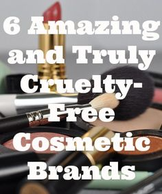 6 Amazing and Truly Cruelty-Free Cosmetic Brands - 1. Everyday Minerals 2. Swagger Cosmetics 3. Beauty w/out Cruelty 4. Obsessive Compulsive Cosmetics 5. Emani 6. Pacifica