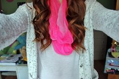 Love the color of the scarf!