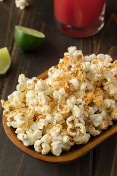 Mexican popcorn. Flavorful Mexican spices are sprinkled over warm, freshly popped popcorn and melted butter and a mixture of tangy, slightly salty cotija cheese and fresh lime zest is added for a lovely taste sensation.