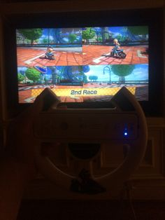 We where playing mariokart last night at 10.Because my sister birthday sleepover was last night go check out my last post (pinmas day 10)