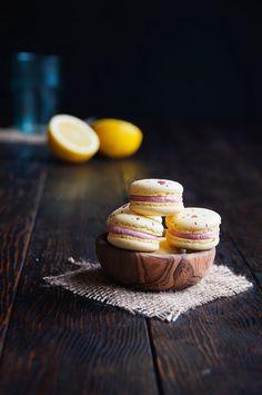 Lemon Raspberry Macarons —