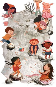 Children's Book Illustration, Character Illustration, Watercolor Illustration, Pattern Illustration, Illustration For Children, Character Sketches, Children's Book Characters, Kid Character, Children's Picture Books