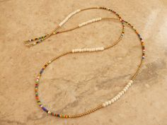 Afrocentric Waist beads - White Bone, Brass and multi coloured