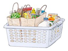 You'll never lose a carton of eggs to a runaway can of tomatoes again if you keep a laundry basket in the trunk of your car. It's great for stowing groceries while driving, and for unloading once you're home. Read more: Organizing Ideas - Home Organization Ideas