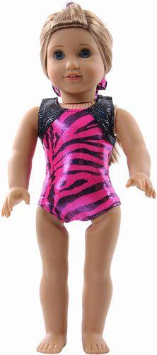 New Safari Snowflake Designs Gymnastic Doll Leotard Fits American Girl | eBay