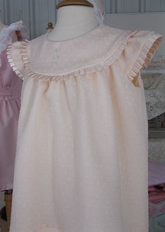 """""""Peach Confection"""", Sweet Dress Kit, Children's Corner """"Mamie"""", Dotted Swiss & Silk,(1 available) (11-14-16)"""