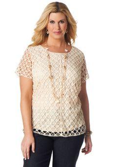 Crochet Lace Shirt - CJ Banks