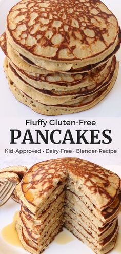 Account Suspended These fluffy gluten free pancakes are an easy blender recipe and only have 4 ingredients! They are kid-friendly, gluten-free and dairy-free and are SO YUM! Dairy Free Bread, Dairy Free Pancakes, Dairy Free Snacks, Dairy Free Breakfasts, Dairy Free Diet, Pancakes Easy, Gluten Free Recipes For Kids, Dairy Free Baking, Banana Recipes Dairy Free