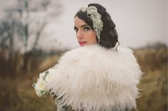 Amazing Ostrich Feather Capelet/Shrug by ifanhour Etsy listing at https://www.etsy.com/listing/249564928/ostrich-wedding-bolero-ostrich-shrug