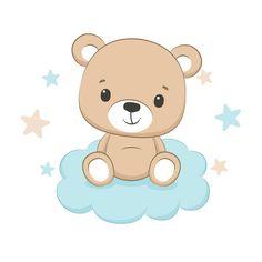 Lindo osito con corazón. imágenes prediseñadas de feliz día de san valentín. | Vector Premium Cute Baby Bunnies, Cute Baby Boy, Cute Teddy Bears, Cute Little Baby, Baby Sloth, Cute Sloth, Cute Wild Animals, Baby Animals, Moda Animal