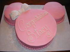 Minnie baby shower cake