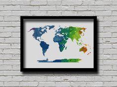 BOGO Cross Stitch Pattern World Map от ZGCROSSSTITCHPATTERN