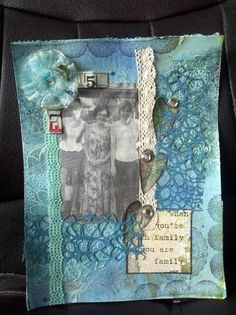 Family mixed media journal page