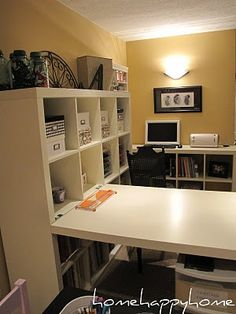 Craft Room Ideas IKEA | Dreamy Craft Room Ideas / expedit/desk combo from Ikea