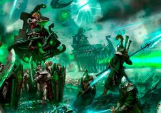 Seers hold valiantly against the undying legions of the Necrons