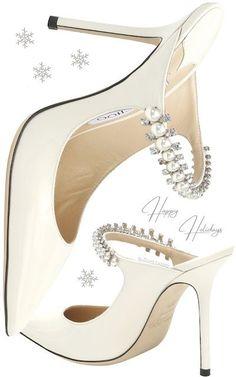 Aquazzura Bing white pearl bejeweled leather sandal #brilliantluxury
