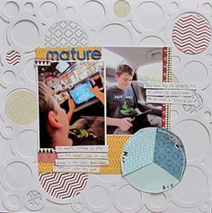 Ideas for using Full Page Stencils and Die Cuts on Scrapbook Layouts | Christy Strickler | Get It Scrapped