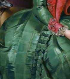 """Portrait of Princess Frederika Sophia Wilhelmina"" (1768-1769) (detail) by…"